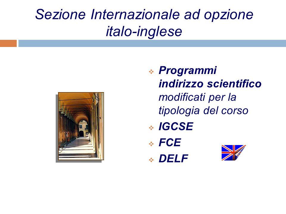 Sezione Internazionale ad opzione italo-inglese