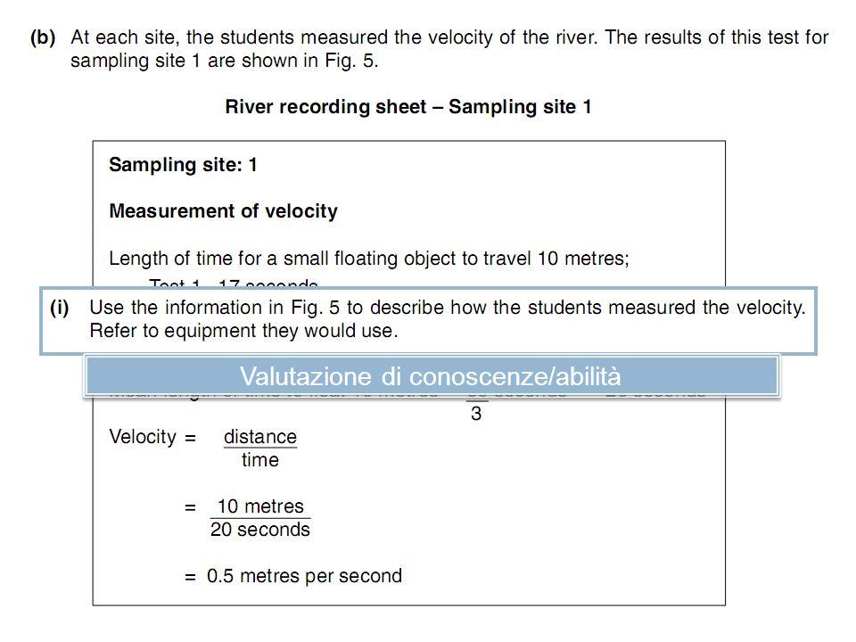 Valutazione di conoscenze/abilità