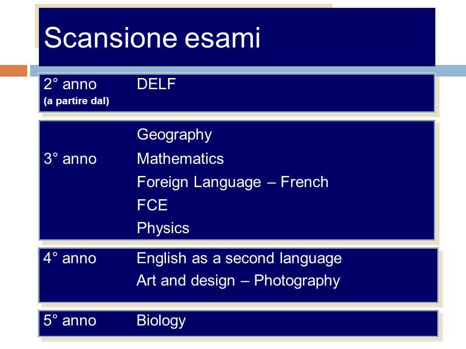 Scansione esami Geography 2° anno DELF 3° anno Mathematics