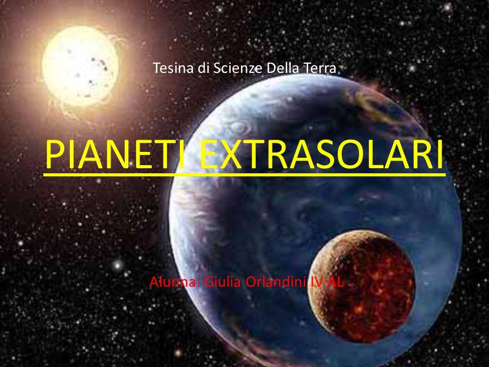 Tesina di Scienze Della Terra PIANETI EXTRASOLARI