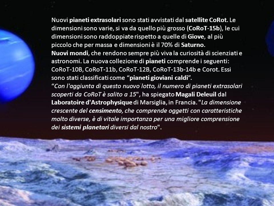 Nuovi pianeti extrasolari sono stati avvistati dal satellite CoRot