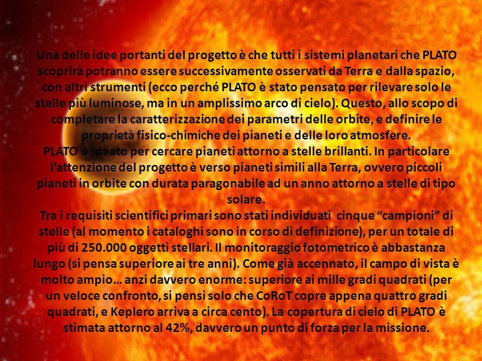 Una delle idee portanti del progetto è che tutti i sistemi planetari che PLATO scoprirà potranno essere successivamente osservati da Terra e dalla spazio, con altri strumenti (ecco perché PLATO è stato pensato per rilevare solo le stelle più luminose, ma in un amplissimo arco di cielo). Questo, allo scopo di completare la caratterizzazione dei parametri delle orbite, e definire le proprietà fisico-chimiche dei pianeti e delle loro atmosfere.