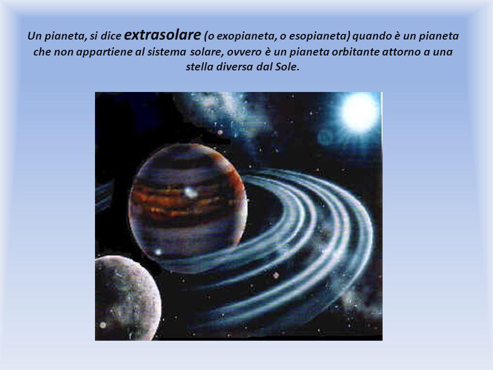 Un pianeta, si dice extrasolare (o exopianeta, o esopianeta) quando è un pianeta che non appartiene al sistema solare, ovvero è un pianeta orbitante attorno a una stella diversa dal Sole.