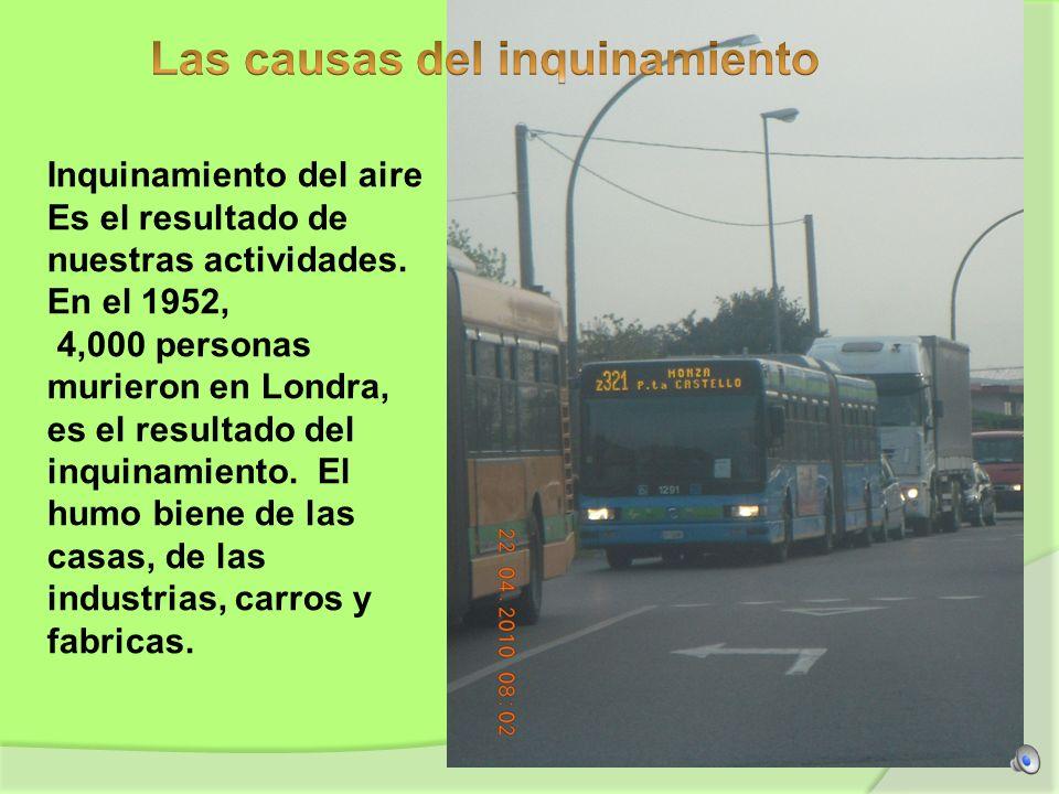 Las causas del inquinamiento