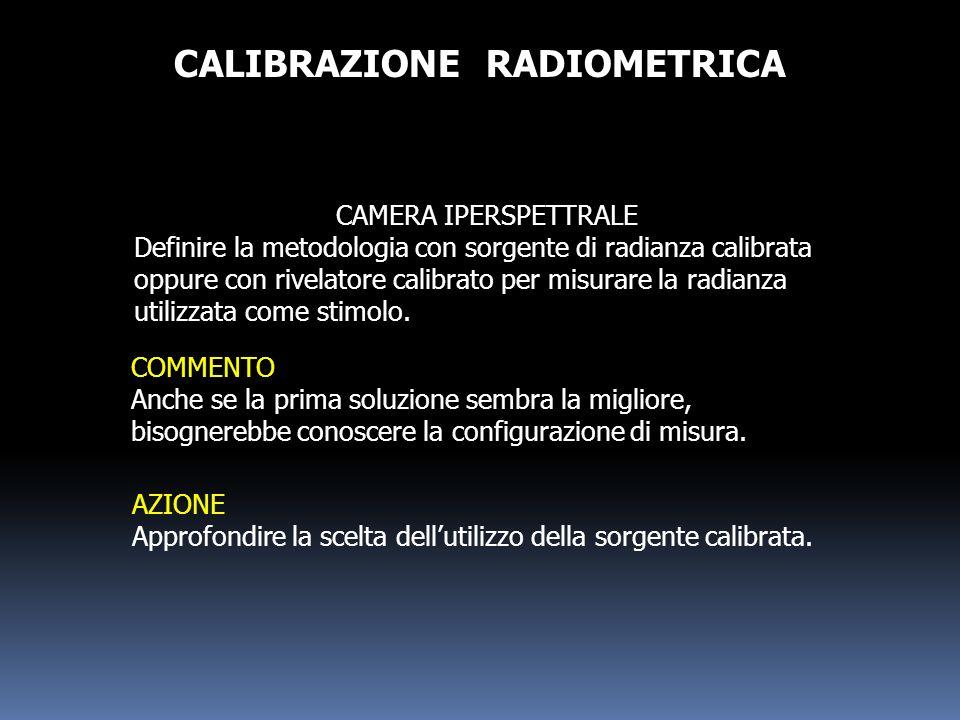 CALIBRAZIONE RADIOMETRICA