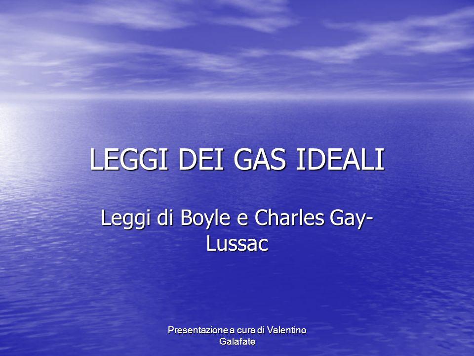 Leggi di Boyle e Charles Gay-Lussac