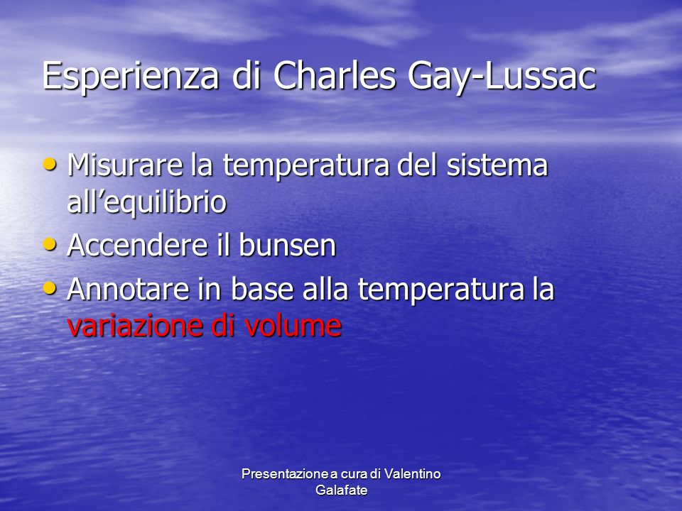 Esperienza di Charles Gay-Lussac