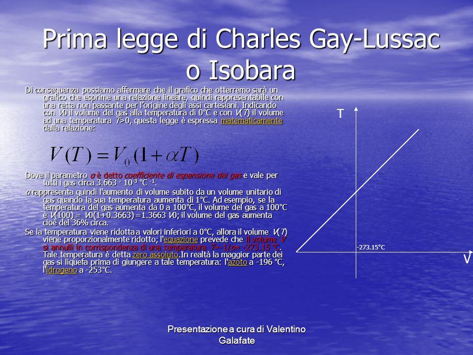 Prima legge di Charles Gay-Lussac o Isobara