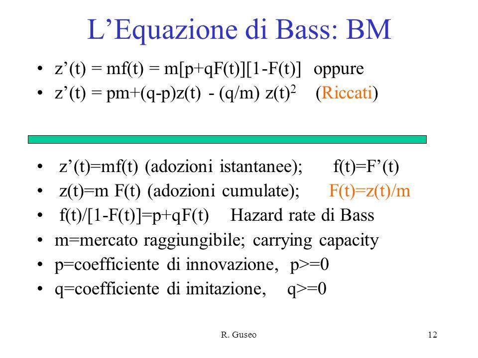 L'Equazione di Bass: BM