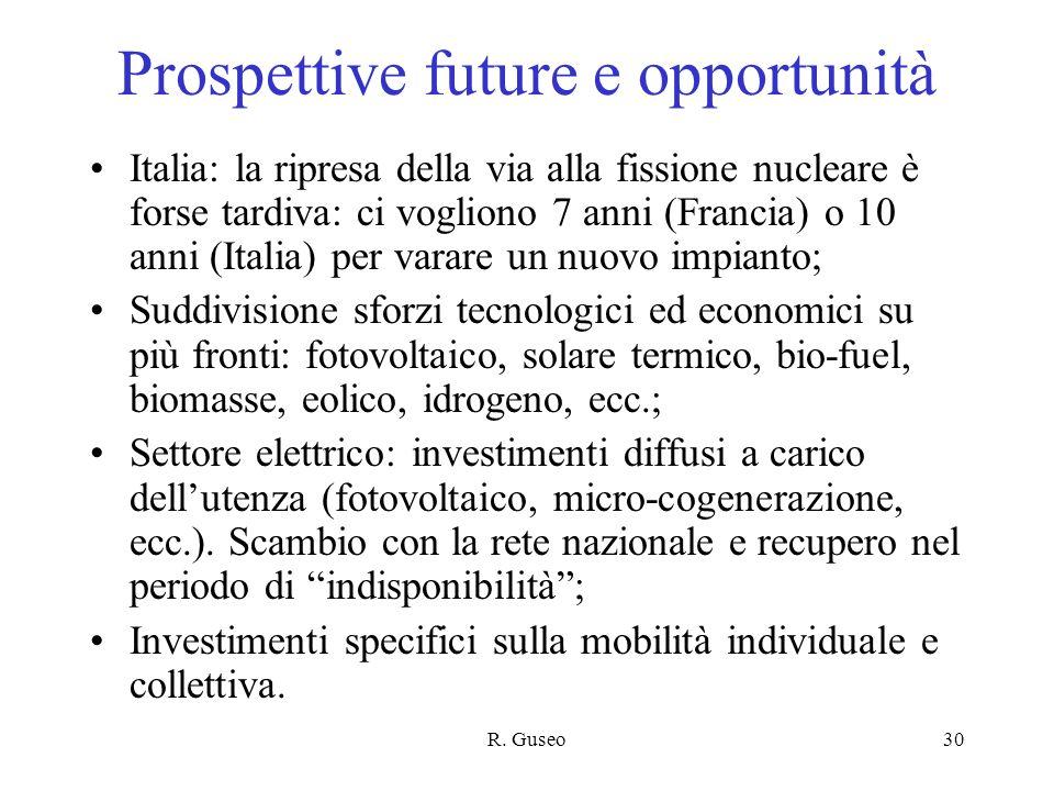 Prospettive future e opportunità