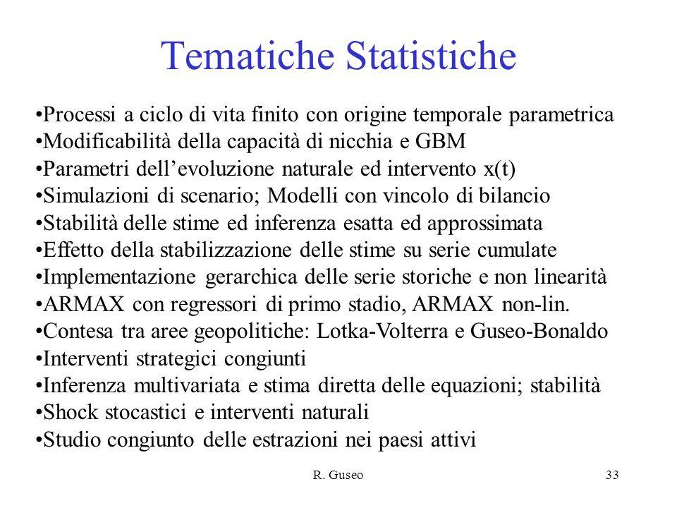 Tematiche Statistiche