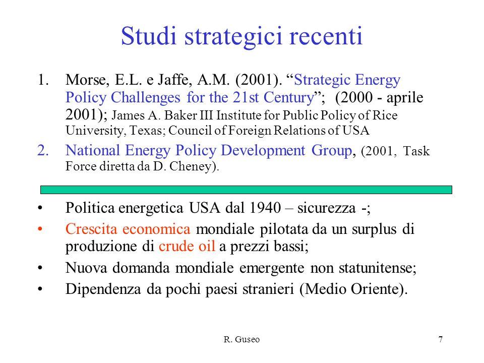 Studi strategici recenti