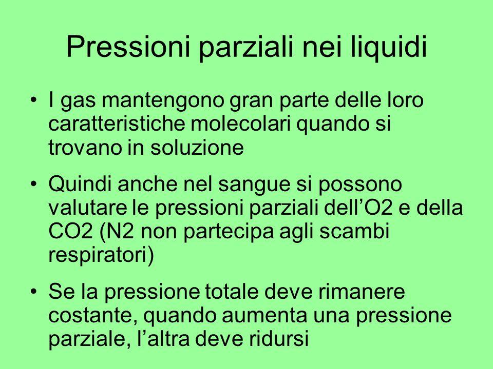 Pressioni parziali nei liquidi