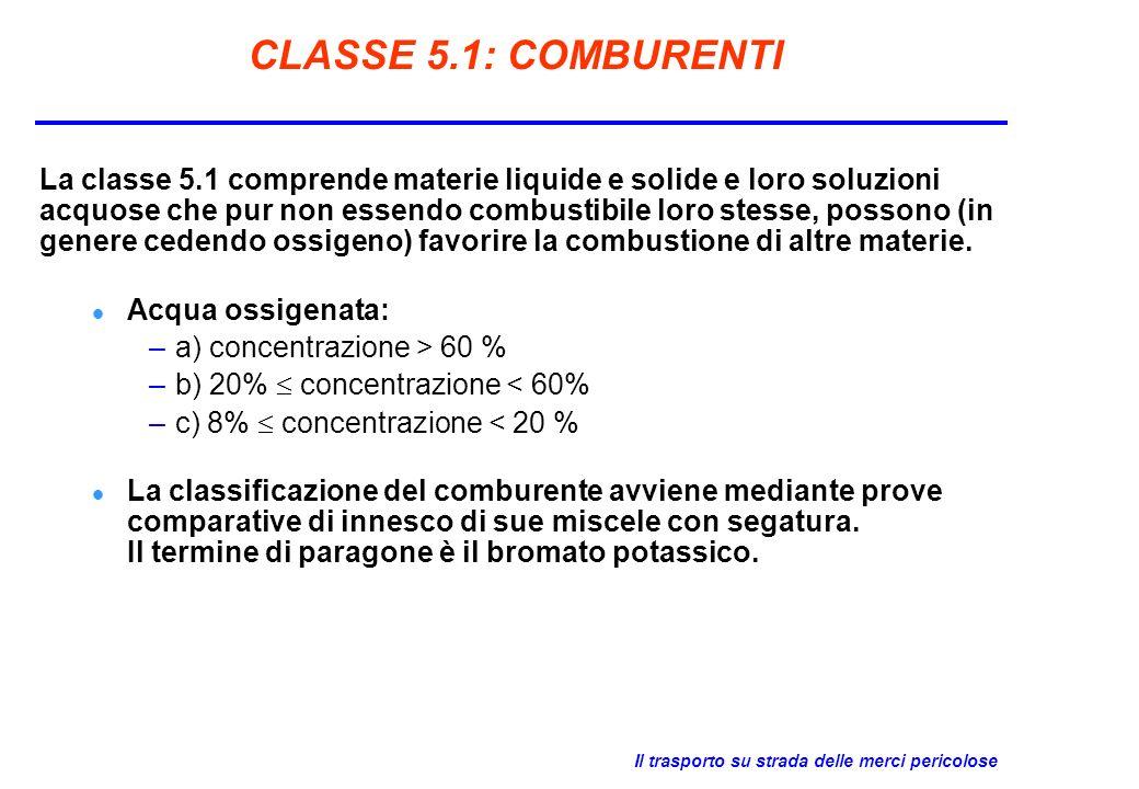 CLASSE 5.1: COMBURENTI
