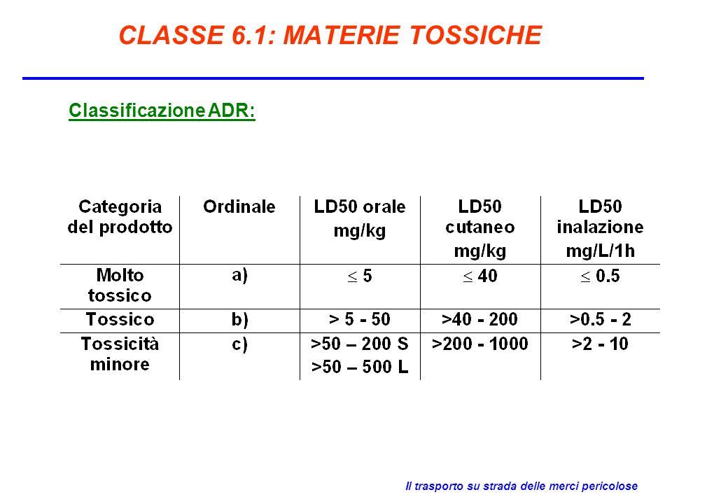 CLASSE 6.1: MATERIE TOSSICHE