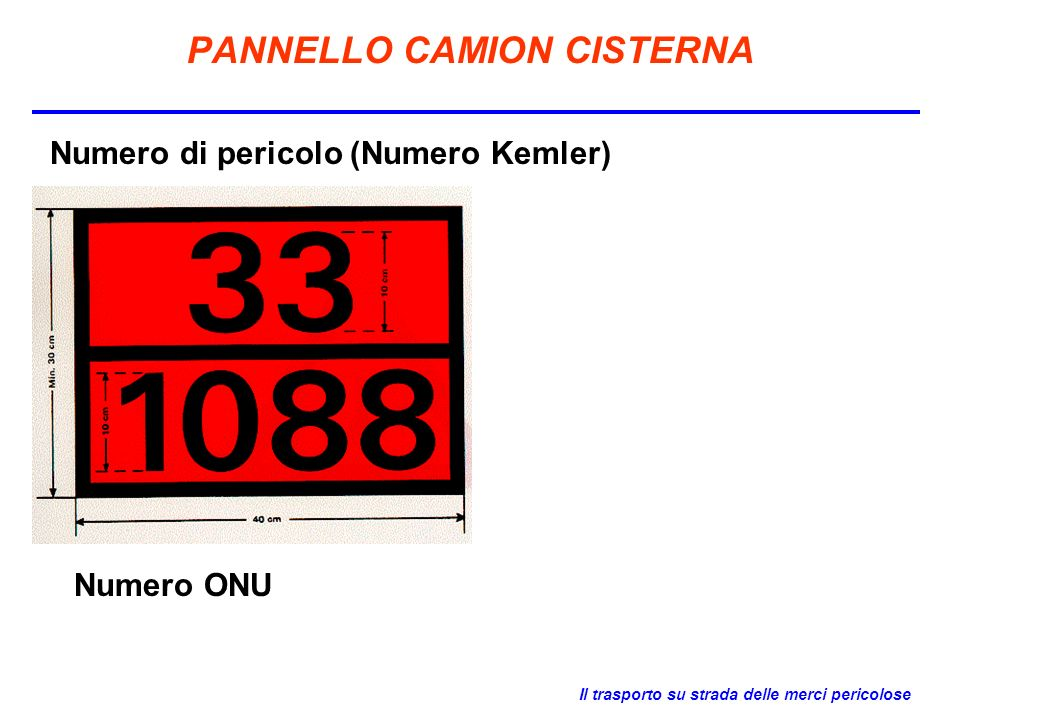 PANNELLO CAMION CISTERNA