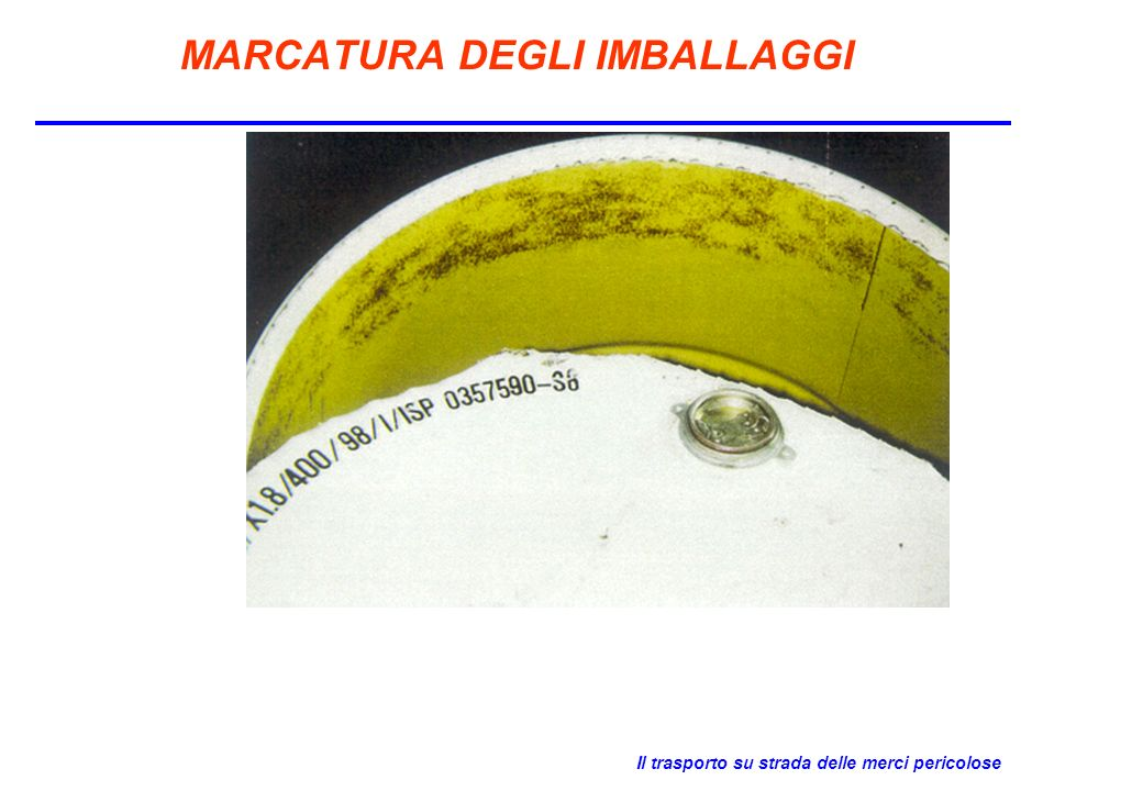 MARCATURA DEGLI IMBALLAGGI