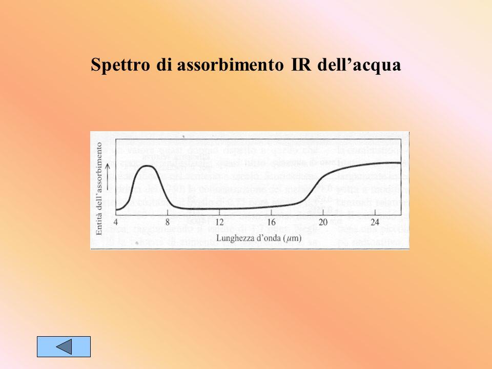 Spettro di assorbimento IR dell'acqua