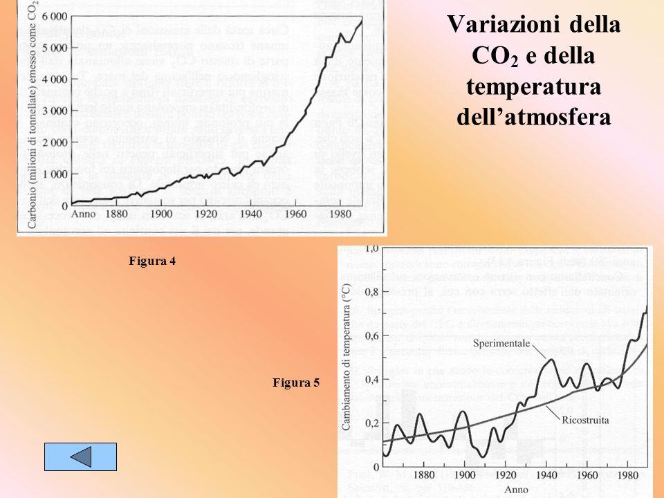 Variazioni della CO2 e della temperatura dell'atmosfera