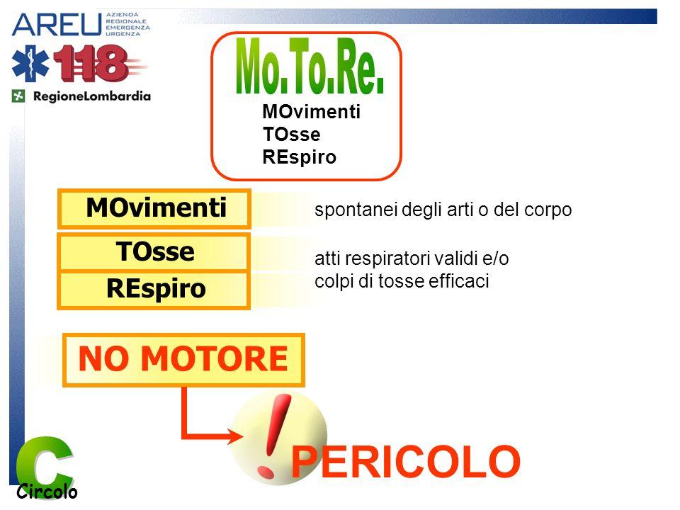 C PERICOLO Mo.To.Re. NO MOTORE MOvimenti TOsse REspiro MOvimenti TOsse