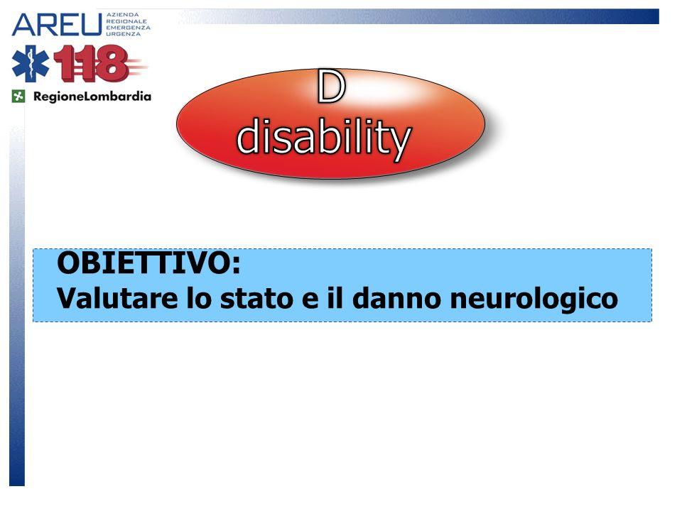 D disability OBIETTIVO: Valutare lo stato e il danno neurologico 15