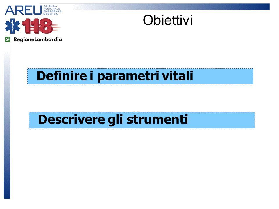 Definire i parametri vitali