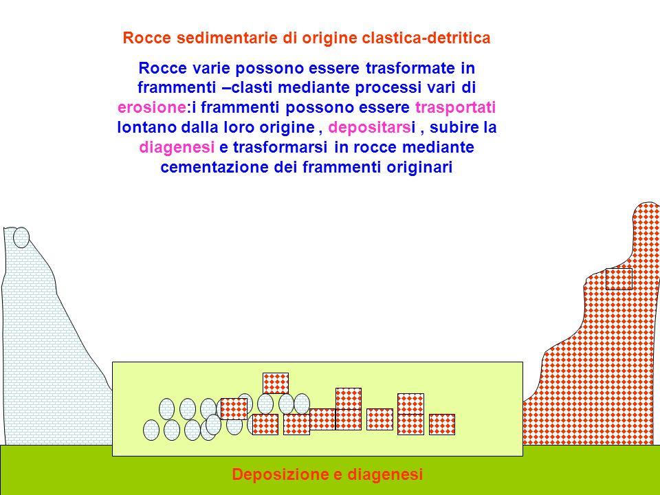 Rocce sedimentarie di origine clastica-detritica
