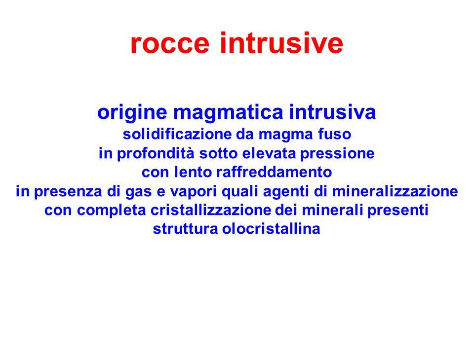 rocce intrusive origine magmatica intrusiva