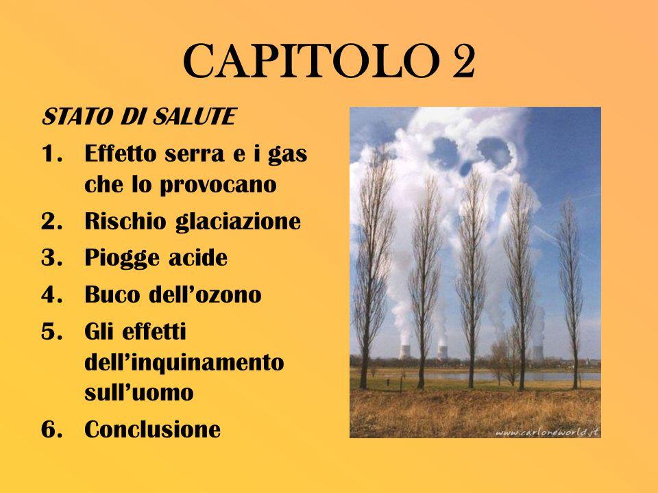 CAPITOLO 2 STATO DI SALUTE Effetto serra e i gas che lo provocano