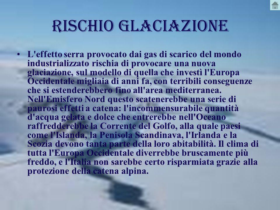 RISCHIO GLACIAZIONE