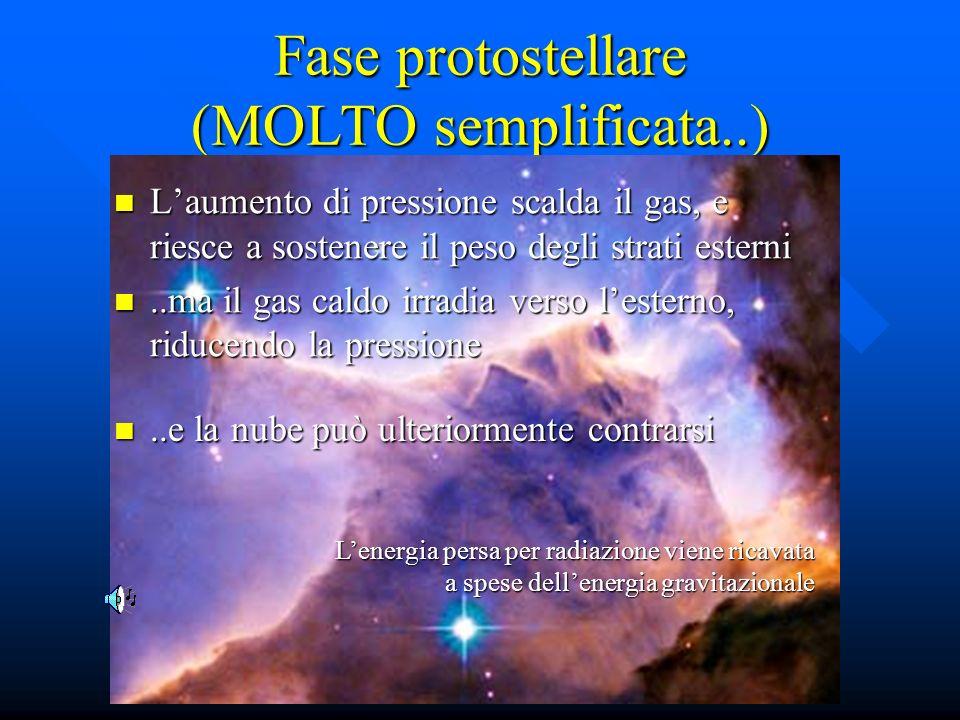 Fase protostellare (MOLTO semplificata..)