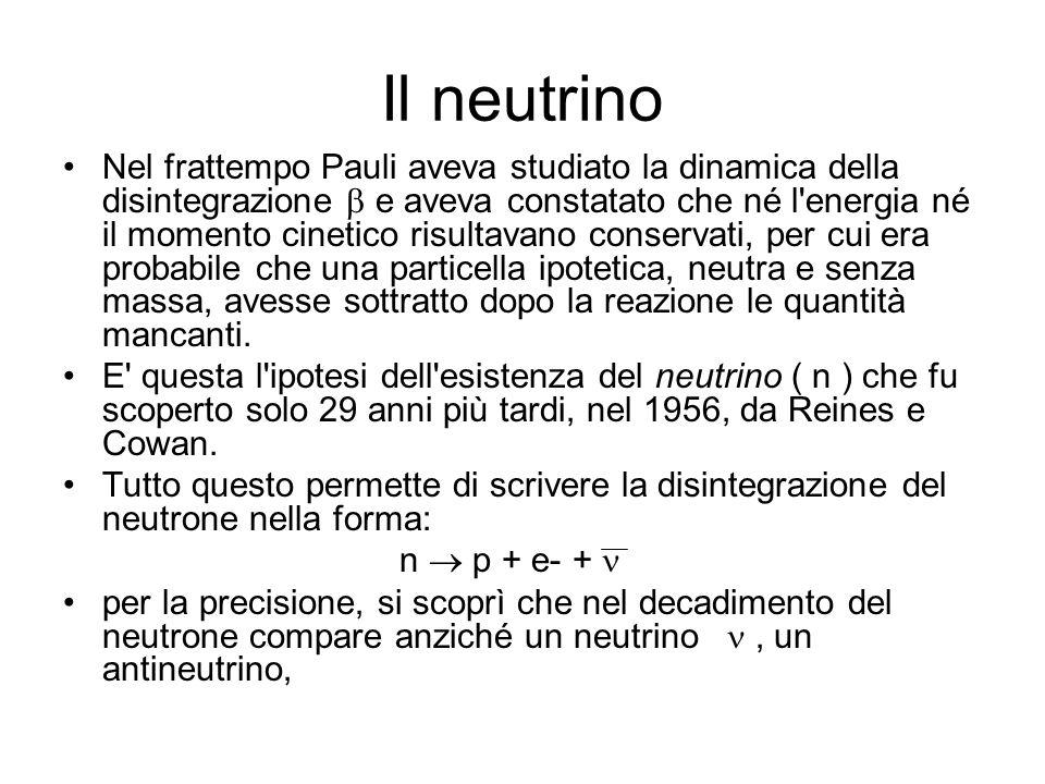 Il neutrino