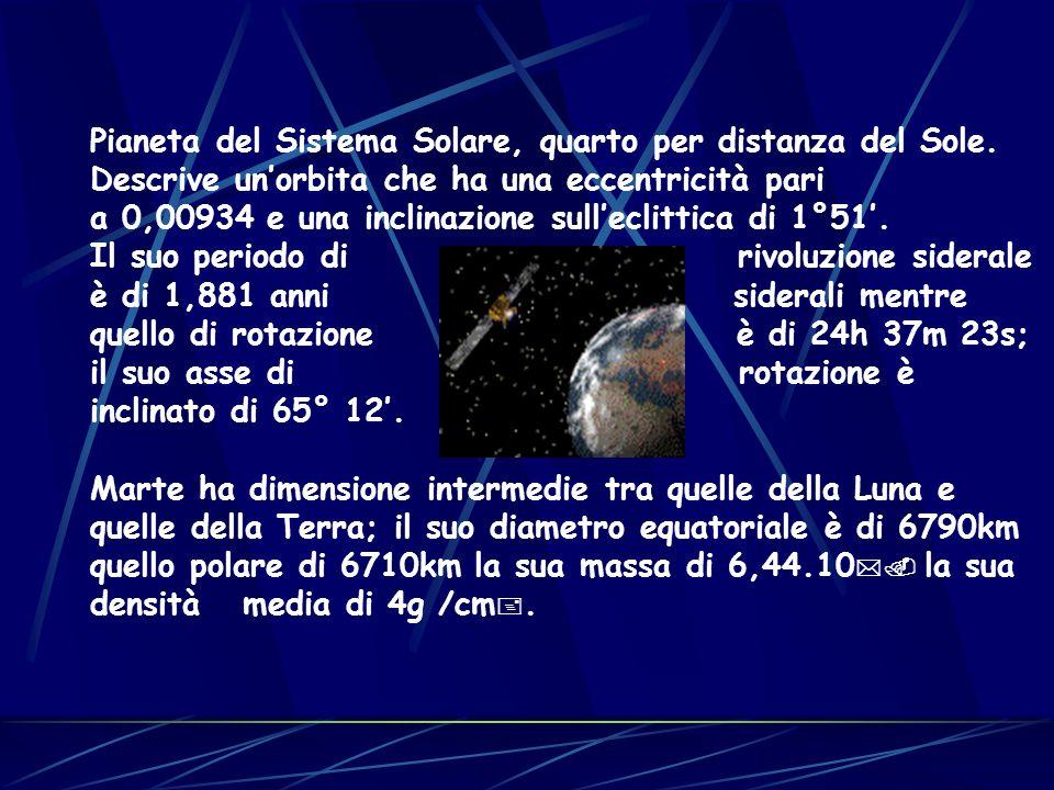 Pianeta del Sistema Solare, quarto per distanza del Sole