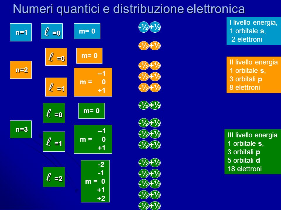 Numeri quantici e distribuzione elettronica