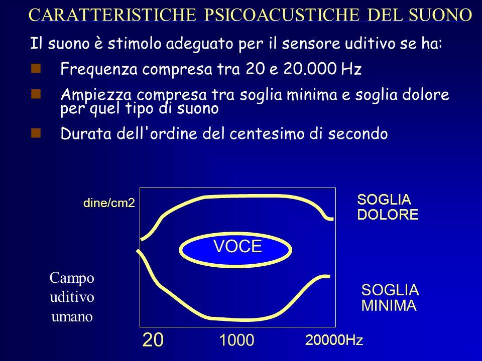 CARATTERISTICHE PSICOACUSTICHE DEL SUONO