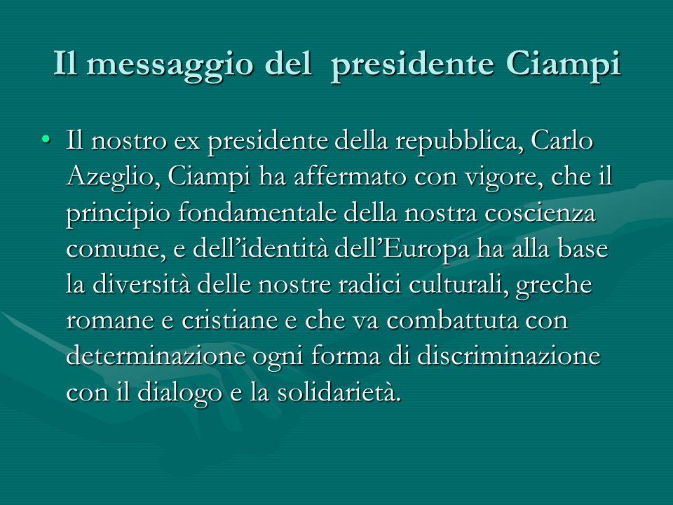Il messaggio del presidente Ciampi