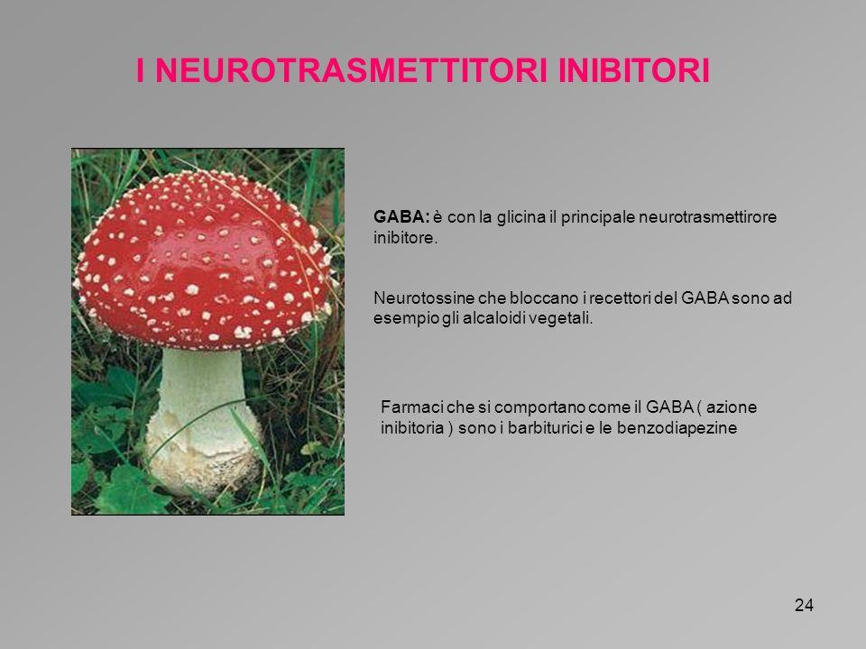 I NEUROTRASMETTITORI INIBITORI