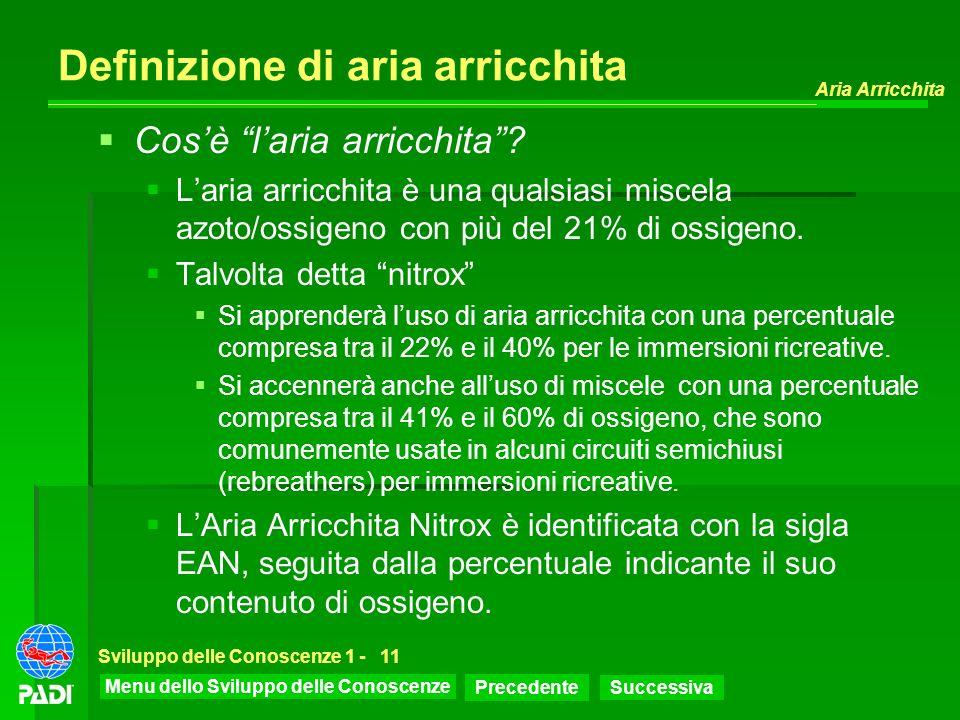 Definizione di aria arricchita