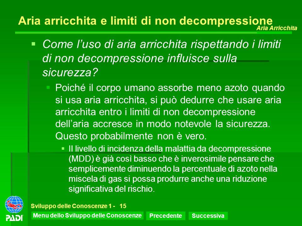 Aria arricchita e limiti di non decompressione