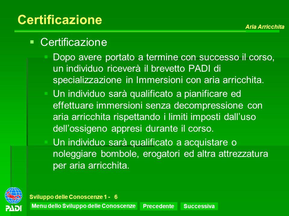 Certificazione Certificazione