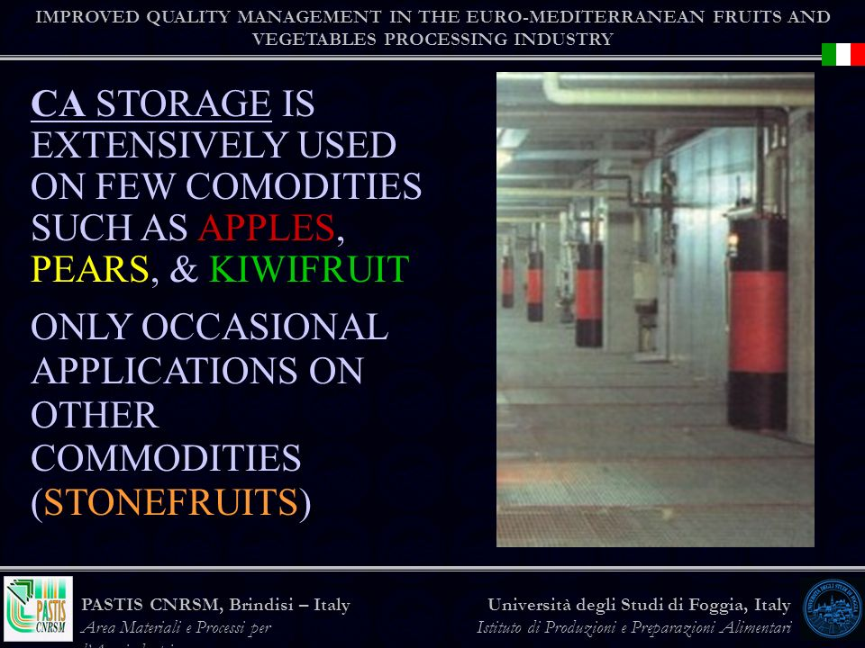 ONLY OCCASIONAL APPLICATIONS ON OTHER COMMODITIES (STONEFRUITS)