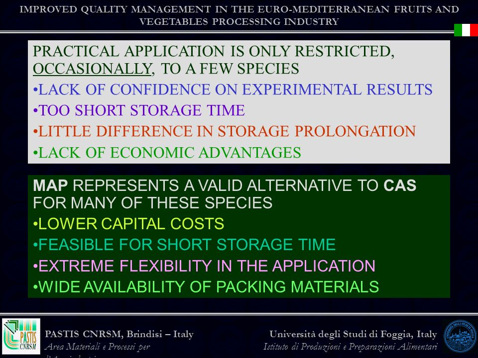 LACK OF CONFIDENCE ON EXPERIMENTAL RESULTS TOO SHORT STORAGE TIME