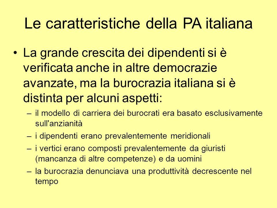 Le caratteristiche della PA italiana
