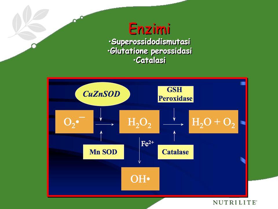 Superossidodismutasi Glutatione perossidasi