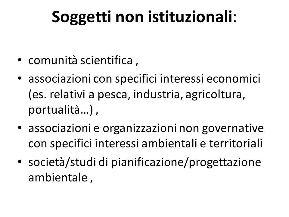 Soggetti non istituzionali: