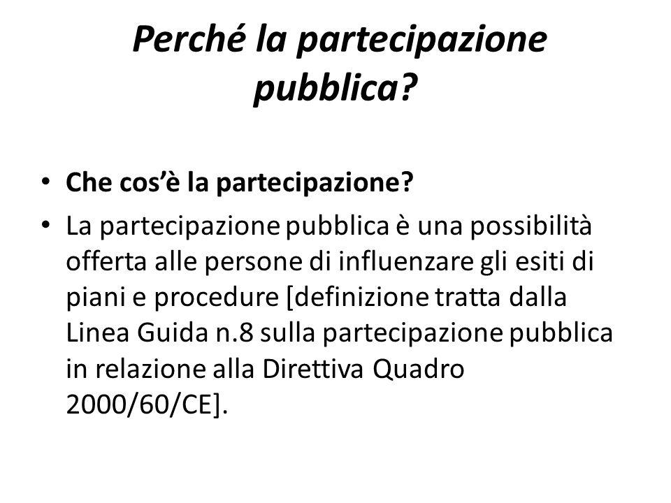 Perché la partecipazione pubblica