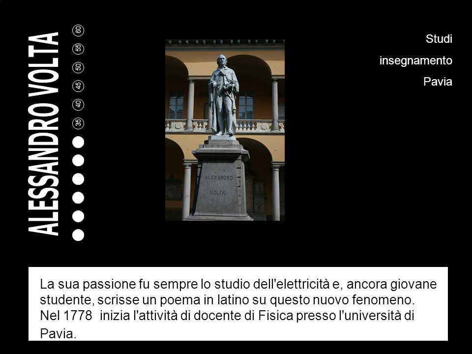 Studi insegnamento. Pavia.
