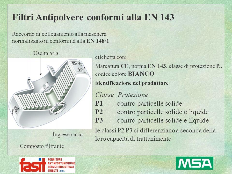 Filtri Antipolvere conformi alla EN 143