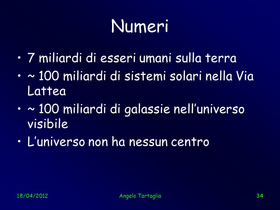 Numeri 7 miliardi di esseri umani sulla terra