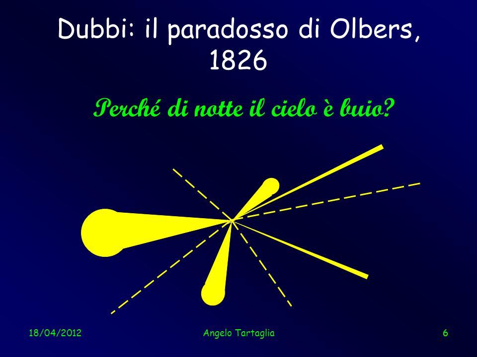 Dubbi: il paradosso di Olbers, 1826